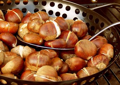 Chestnuts cooking
